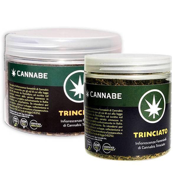 Trinciato di fiori e foglie Cannabis