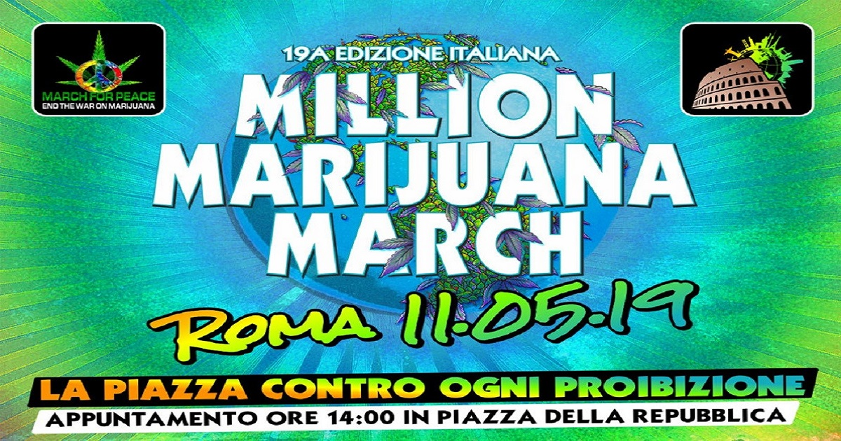 Million Marijuana March 2019 a Roma: Tutte le Coordinate